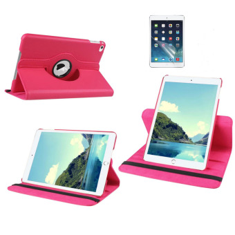 Harga Welink 2 in 1 iPad Air 2 Cover Case Plus Screen Protector, 360 Degree Rotating PU Leather Stand Smart Case Cover with Automatic Wake/Sleep Feature for iPad Air 2 (Rose)(Export)(Intl)