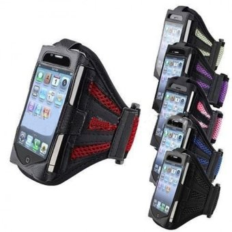 Mesh Belt Arm Package Mobile Phone Protective Sleeve Radiating Shell For Running Exercise - intl