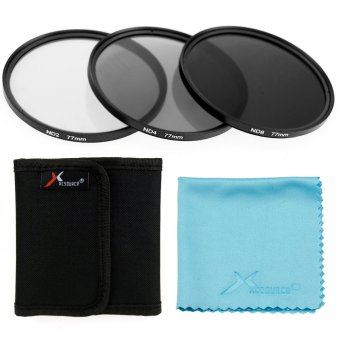Harga 3pcs 77mm ND2 ND4 ND8 Neutral Density Filter for Canon 5D 6D 7D 60D 70D