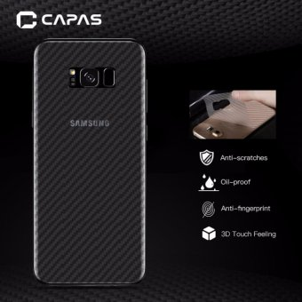 Harga 3x CAPAS 3D Carbon Fiber Back Protectiv Film For Samsung Galaxy S8 Clear Back Protector - intl