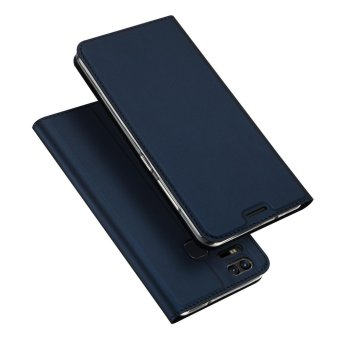 Harga Case For Asus ZenFone 3 Zoom ZE553KL Leather Book Design Flip Case Cover - Blue - intl