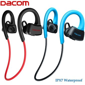 Harga DACOM P10 IPX7 Waterproof Bluetooth headphone Headset Swimming Earphone Ear Hook running general version for ios 7 and android(Blue) - intl