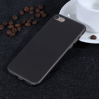 Ultra Thin PP Micro scrub TPU Soft Back case cover For iphone 7 plus Black - intl