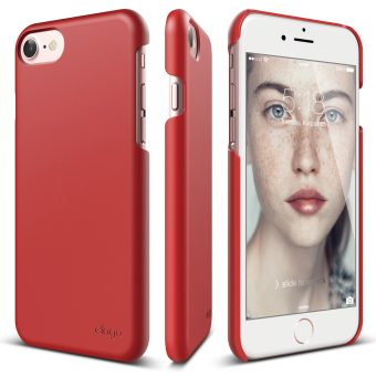 Harga Elago Slim Fit 2 Case for iPhone 7 (4.7inch) Extreme Red + Front Protection Film included