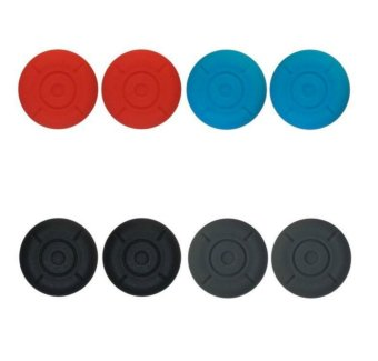 Harga 4 Pairs Silicone Thumb Grip Stick Caps for Nintendo Switch Joy-con - intl