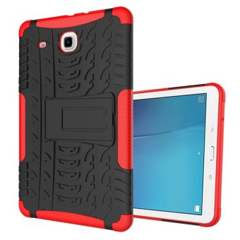 Luxury Back Armor Style Cover (PC and Soft TPU) Shockproof Protection and Stand Tablet case for Samsung Galaxy Tab E 9.6 T560 T561 - intl