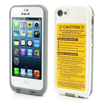 Harga Durable Redpepper Waterproof Case Protective Cover for iPhone 5 (White)