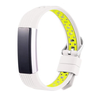 Harga New Fashion Sports Silicone Bracelet Strap Band For Fitbit Alta HR White - intl