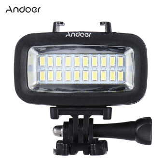 Harga Andoer High Power 700LM Diving Video Fill-in Light LED Lighting Lamp Waterproof 40M 1900mAh with Diffuser for GoPro SJCAM Xiaomi Yi Sports Action Camera - Intl