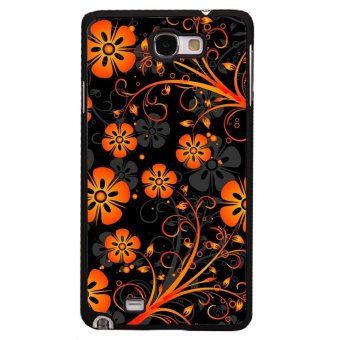 Harga Orange Flowers Samsung Galaxy Note 1 Phone Case For Samsung Galaxy Note 1 (Black)