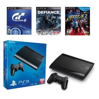 Harga PS3 500GB Super Slim Local Set + FREE 3 PS3 Games [1 Year Warranty]