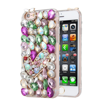 Harga Moonmini Case for iPhone 7 3D Crystal Bling Sparkle Clear Silicon Case Cover - Style 2 - intl