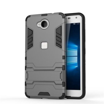 "Armor Protection 2in1 [Soft TPU and Hard PC] Stand Function Phone case for Microsoft Lumia 650 (5.0"") - intl - 2"