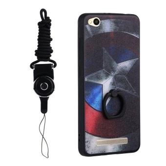 For Xiaomi Redmi 4A 3D Painting Ring holder Cover Case Captain America One .