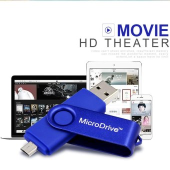 Harga 64GB USB Flash Drive High Speed OTG Pendrive Stick USB Flash Drive OTG Real Capacity Pen Drive (Blue) - intl