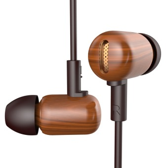 Harga DZAT DF-10 Wood Bass HIFI In-Ear Headset (Brown)