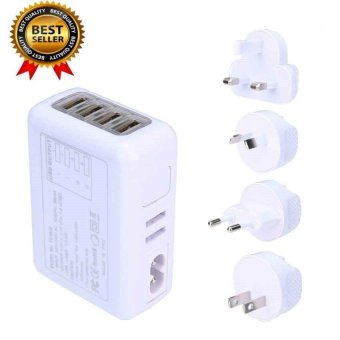 shpsammall-4 USB Ports AC Universal Travel Wall Adaptor Charger With 4 AC - intl