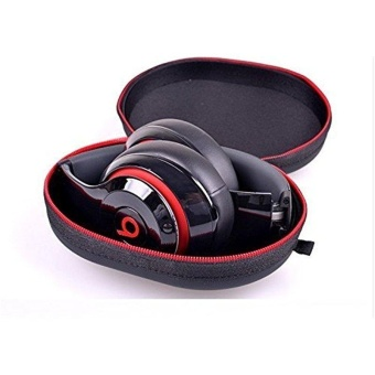Harga Matte Zipper Earphones Carrying Case for Beats Monster by Dr.Dre Studio, Solo Wireless, Solo, Solo HD Over-ear Headphone Replacement Case Pouch Bag Box - intl