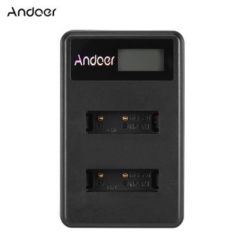 Harga Andoer Mini Portable Dual Slot LCD Screen USB charger for Sony NP-BX1 DSLR - intl