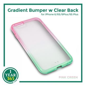 Harga Ombre Bumper with Clear Back for iPhone 6/6S (PinkGreen)