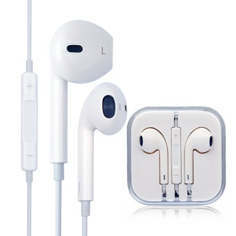 Harga I-MU In-Ear Stereo Headphones with Mic & Control for Apple iphone6/6S/PLUS/5/5S/5C/4/4S/ipad/ipod(white)