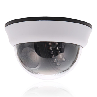 Harga 1200TVL CMOS 22IR Cut 3.6mm Lens Dome CCTV Security Camera Night Vision (White)