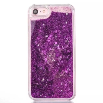 Harga Moonmini Case for iPhone 7 Stars Sands Liquid Floating Hard PC Case - Purple - intl
