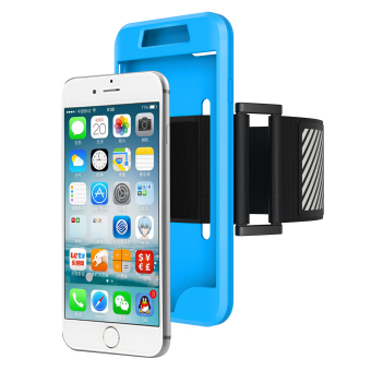 Harga Moonmini Case for Apple iPhone 7 Plus Sport Running Armband with Combo Back Case - Blue - intl