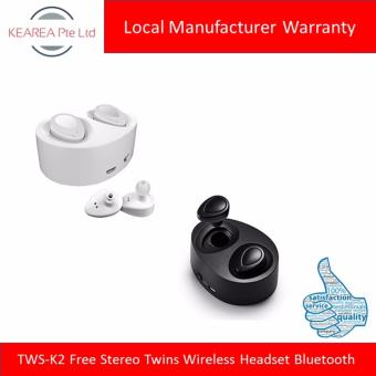 Harga TWS-K2 Free Stereo Twins Wireless Headset Bluetooth (Black / White / Red / Silver)