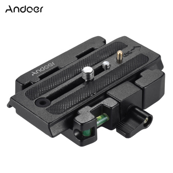 Harga Andoer Video Camera Tripod Quick Release Clamp Adapter with Quick Release Plate Compatible for Manfrotto 501 500AH 701HDV 503HDV Q5 Head