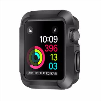 Harga Bandmax Protective Rugged Case for Apple Watch Fashion Soft TPU Anti Drop Cover for iWatch Series 1/2 38MM All Models (Black/White) - intl