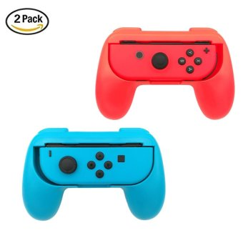 Harga leegoal 2 Pack Nintendo Switch Joy-Con Grips Controller, Wear-resistant Joy-con Handle Protect Case For Nintendo Switch, Blue And Red - intl