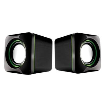 Harga U-Cube USB Powered 2.0 Speakers (Green)