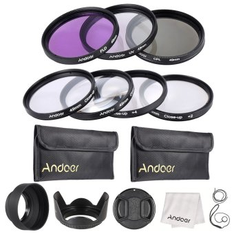 Harga Andoer 49mm UV + CPL + FLD + Close-up(+1+2+4+10) Lens Filter Kit