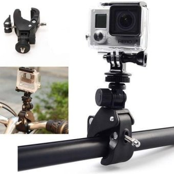 Motorcycle Bicycle Handlebar Mount Clamp for Gopro Hero 3+ 3 2 1 Camera - intl