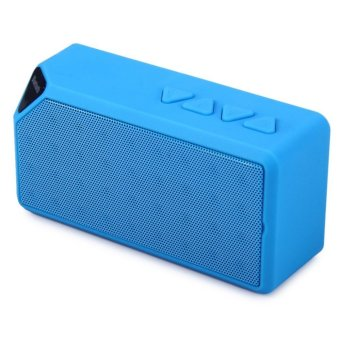 X3 Portable Mini Bluetooth Speaker X3 TF USB FM Radio Wireless Music Sound Box Subwoofer Loudspeakers with Mic for iOS Android - intl - 2