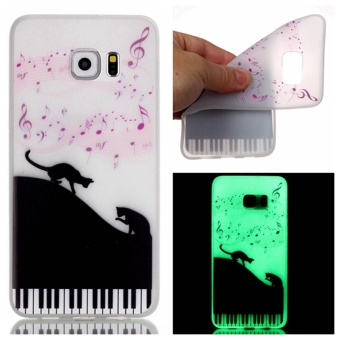 Harga Moonmini Luminous TPU Phone Back Case for Samsung Galaxy S7 Edge - Musical Notes - intl