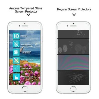 AMORUS for iPhone 7 Tempered Glass Screen Protector Guard 2.5D Arc Edge - intl - 3