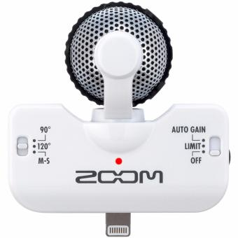 Harga Zoom iQ5 - Stereo Microphone for iOS Devices with Lightning Connector (White)