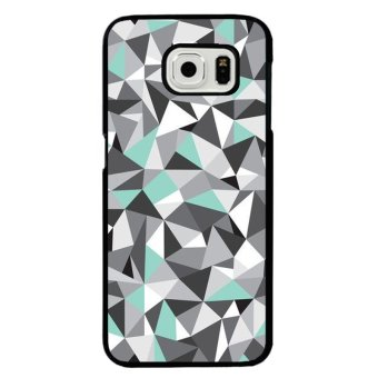 Harga Y&M Cell Phone Case For Samsung Galaxy S6 Edge 3D Triangle Printed Cover (Multicolor)