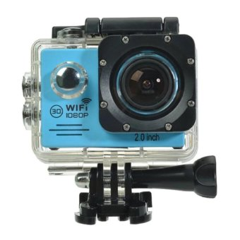 Harga Sports Action Camera 2-inch LCD WiFi 4K HD Waterproof camera Sports Cam - intl