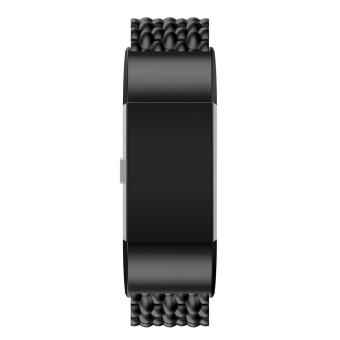 Harga Genuine Stainless Steel Bracelet Smart Watch Band Strap For Fitbit charge 2 Black - intl