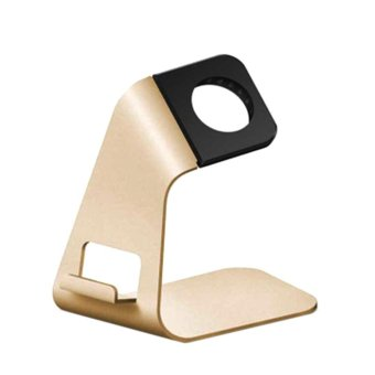 Harga Aluminum Watch Stand Charging Dock for iWatch iPhone(Gold) - intl