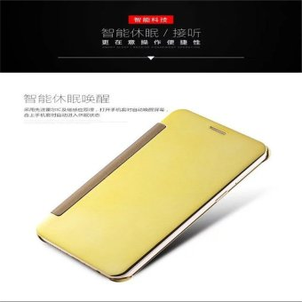 Smart Sleep Mirror Leather Case Cover For Oppo R9 Plus (Gold) - intl - 4