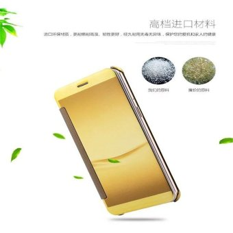 Smart Sleep Mirror Leather Case Cover For Oppo R9 Plus (Gold) - intl - 3