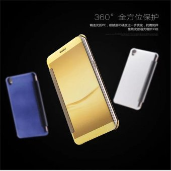 Smart Sleep Mirror Leather Case Cover For Oppo R9 Plus (Gold) - intl - 5