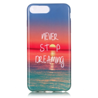 Harga Ultra Slim Fit Soft TPU Phone Back Case Cover For Apple iPhone 7 Plus (Sea Twilight)