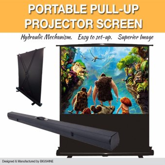"PREMIUM FLOOR-UP PORTABLE PROJECTOR SCREEN 100"" (4:3) [BIGSHINE]"