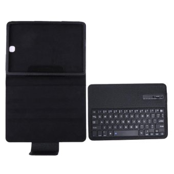 Harga Bluetooth Keyboard Leather Case + Stand for Samsung Galaxy Tab S2 T810/Tab(Black) - intl