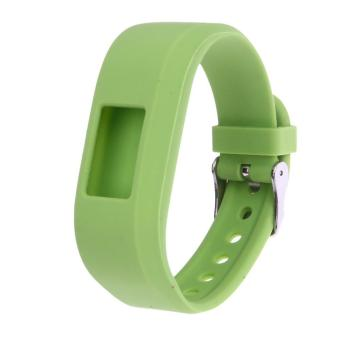 Harga Soft Silicone Replacement Watch Band Strap for Garmin Vivofit3 / JR (Lime) - intl